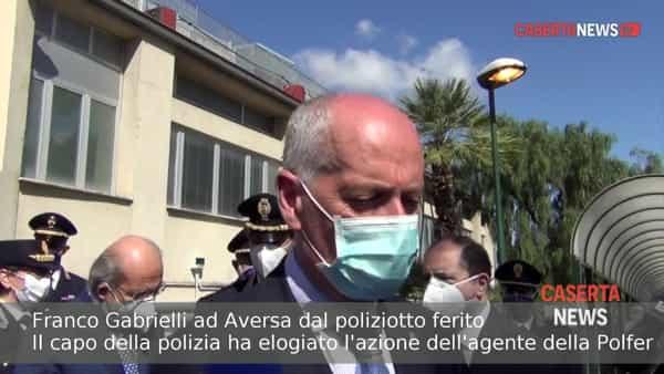 """Il capo della polizia in ospedale dall'agente ferito in banca: """"Ha avuto sangue freddo""""   VIDEO"""