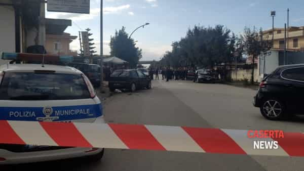 L'incidente avvenuto in viale Europa ad Aversa