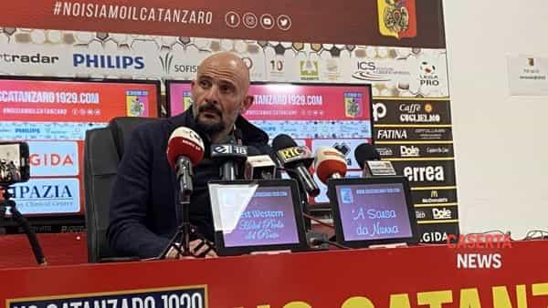 """La Casertana pareggia a Catanzaro, Ginestra: """"Meritavamo di più"""""""