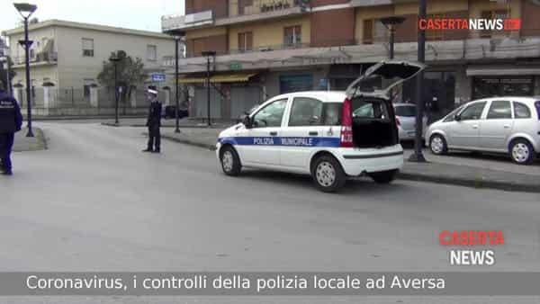 Coronavirus, oltre mille persone controllate in 2 settimane dalla polizia locale di Aversa | VIDEO