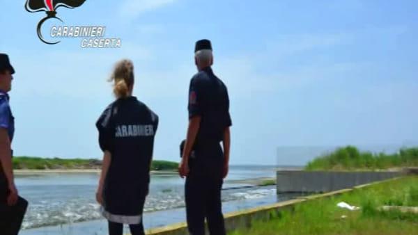 Carabinieri e ruspe sui Regi Lagni dopo il sequestro I VIDEO