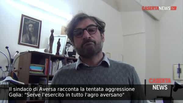 Il sindaco racconta a Casertanews la tentata aggressione in banca e chiede l'esercito in tutto l'agro aversano | VIDEO