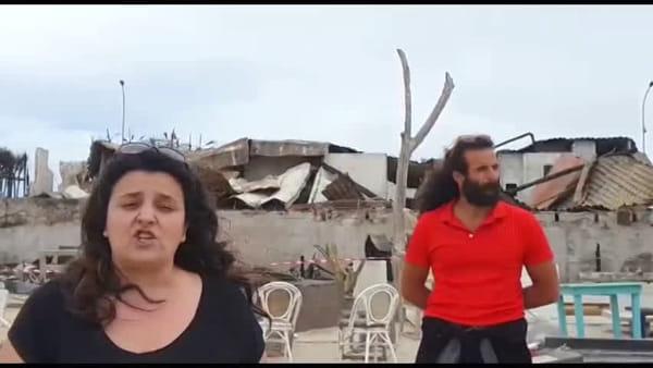 Raccolta fondi per ricostruire il lido distrutto dalle fiamme | VIDEO