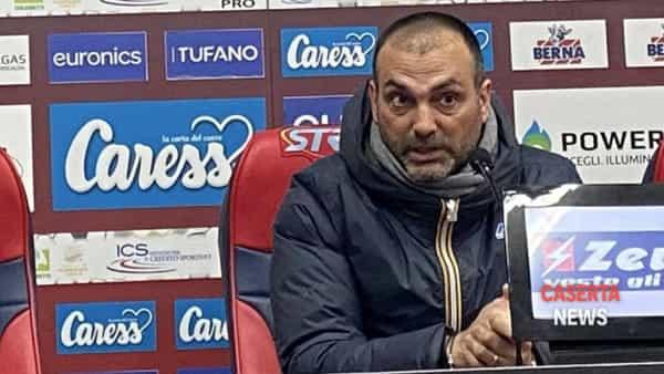 """Casertana sconfitta, insulti a D'Agostino. Violante: """"Contestate noi, il presidente non ha colpe""""   FOTO"""